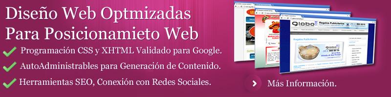 diseño web, diseno web, diseño web optimizado para el posicionamiento, paginas aptas para posicionamiento seo en buscadores y en google