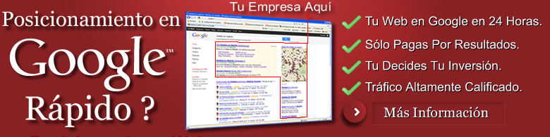 Posicionamiento web con google adwords, posicionamiento de pago por click, posicionamiento en buscadores PPC Posicionamiento web a través de Google Adwords, Enlaces patrocinados y PPC o Pago por click