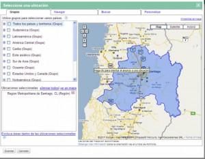 Ubicación Geográfica de una campaña de Adwords