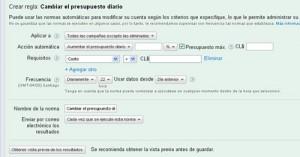 Normas Automáticas en Google Adwords