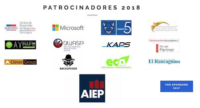 Auspiciadores OctoberTech 2018 Rancagua Chile
